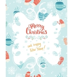 Christmas decoration card vector