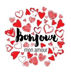 Romantic card poster mug t-shirt print Hello vector image