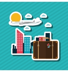 Travel editable vector