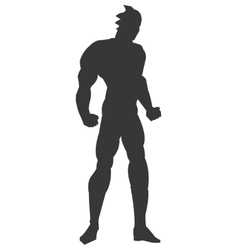 Muscular man silhouette icon vector