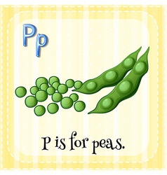 A letter p for peas vector