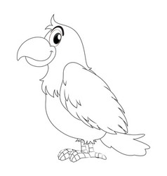 animal doodle for parrot bird vector image vector image
