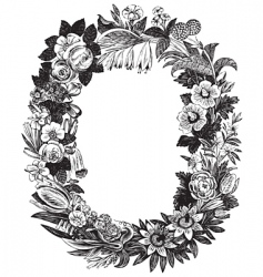 antique flower frame vector image