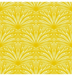 Art deco floral pattern in gold and white vector