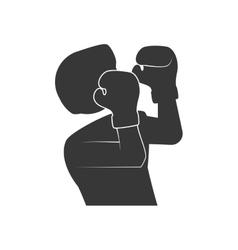Boxer icon Boxing design graphic vector image