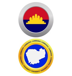 button as a symbol CAMBODIA vector image