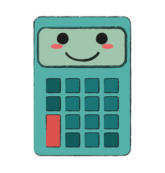 calculator happy cartoon character icon image vector image