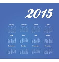 Calendar 2015 year vector image