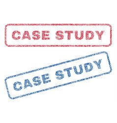 Case study textile stamps vector