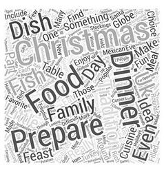 Christmas dinner ideas word cloud concept vector