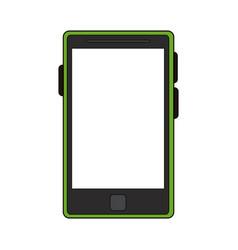 Color image cartoon tablet tech device icon vector