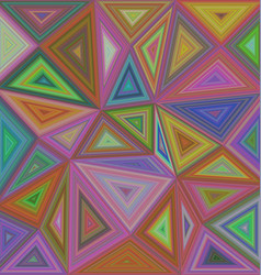 Colorful triangle mosaic background design vector
