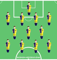 Computer game bosnia and herzegovina football club vector