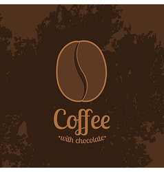 Dark Textured Background with Coffee Bean vector image