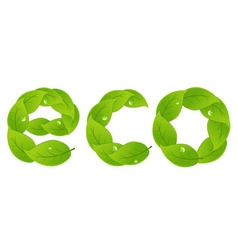 eco design element vector image vector image