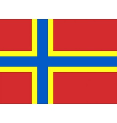 Flag of Orkney vector image vector image