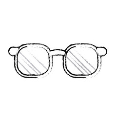 Glasses accessorie fashion model style sketch vector