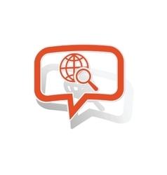Global search message sticker orange vector