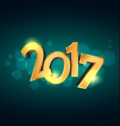 Golden 2017 celebration holiday background design vector