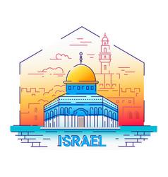 Israel - modern line travel vector