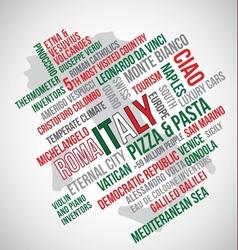 Italy flag word vector