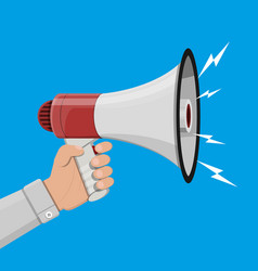 Loudspeaker or megaphone announcement element vector