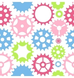 Machine Gear Wheel Cogwheel Seamless Pattern vector image vector image