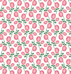 Mod oval pink rose pattern vector
