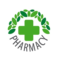 Round logo for pharmaceutical companies vector image vector image
