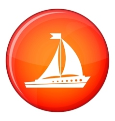 Sailing ship icon flat style vector