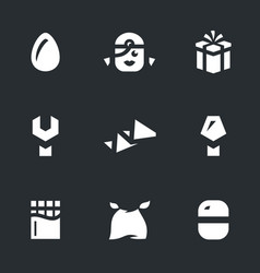 set of egg surprise icons vector image
