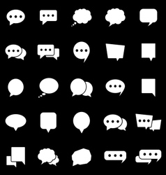 Speech bubble icons on black background vector