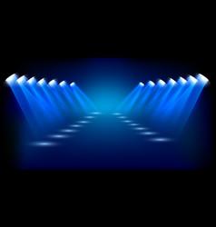 spotlights shining background vector image vector image