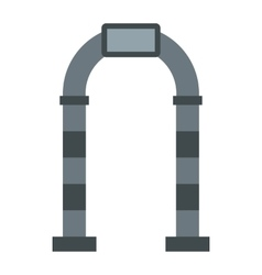 Stone arch icon flat style vector