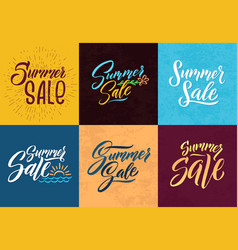 summer sale hand writing words letters vector image vector image