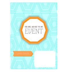 vintage invitational card vector image