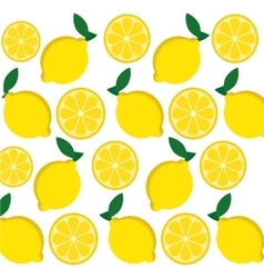 Lemon fruits background design vector image