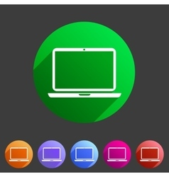 Laptop notebook computer icon flat web sign symbol vector image