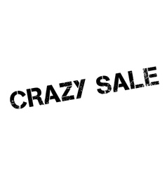 Crazy Sale rubber stamp vector image