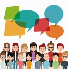 cartoon people community talking communication vector image