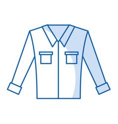 Men long-sleeved shirt vector