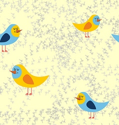 Bird tracks in sand a seamless pattern background vector