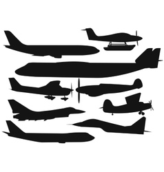 Civil aviation travel passanger air plane black vector
