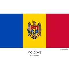National flag of moldova with correct proportions vector