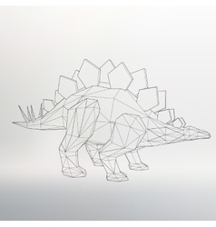 Dinosaur model  polygon vector