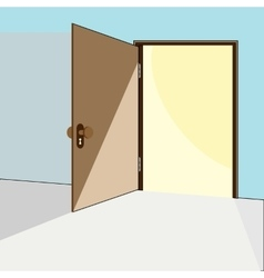 Opened door concept vector
