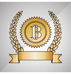 Bitcon icon design vector