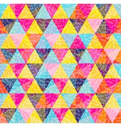 Geometry pattern of colorful triangle with texture vector