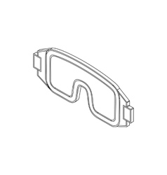 Paintball goggles icon isometric 3d style vector
