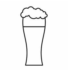 Glass of beer icon outline style vector image
